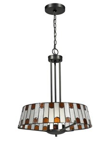 Dale Tiffany TH12421 Wedgewood - One Light Pendant, Dark Bronze Finish with Hand Rolled Art Glass (Wedgewood Pendant)