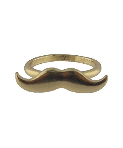 Element Jewelry Gold Tone Mustache Ring- Size - Element Ring Jewelry
