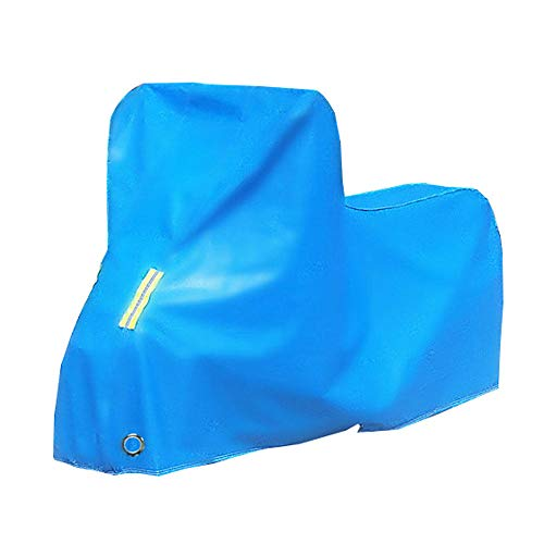 ZZKJTANGYMTT Motorcycle Covers for Outside Storage, Scooter Cover, Electric Car Battery Cover, Sun Protection, Rain Cover, Thick Cloth, Snow Protection, Dust Cover,Blue-S