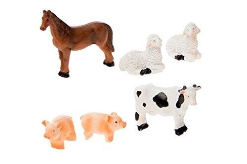 Miniature FAIRY GARDEN Micro Mini Fairy Garden Farm Animals – Set... from unbrand