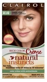 Clairol Natural Instincts Color, 21G Caramel Creme, Rich Medium Golden Brown (3 Pack)