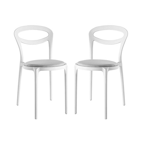Modway Assist Dining Side Chair (Set of 2), White Gray Review