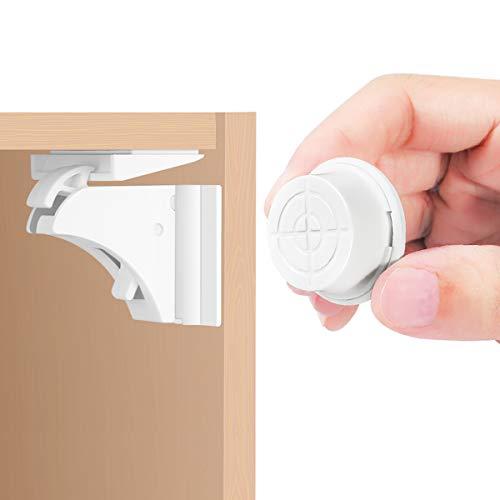 Cerraduras De Gabinete MagnéTico, 16 Cerraduras + 3 Llaves Cerraduras De Seguridad Para Bebé Para Armario Y CajóN,...