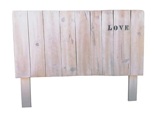 Cabecero Artesanal con patas y repisa echo con madera de ...