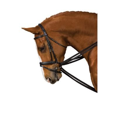 (Eclipse Padded Draw Reins With Girth Attachments In Black)