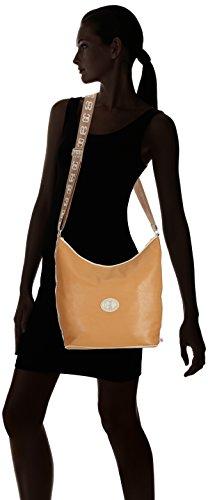 Poodlebag German Couture-bicolor-Hobo 3GC0115HOBOMT Damen Umhängetaschen 30x10x30 cm (B x H x T) Mehrfarbig (Cognac/Sand) tbEwByF7Al