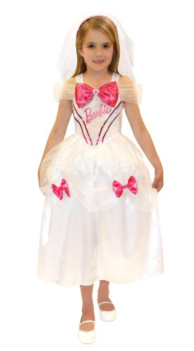 Doll Bride Costume (6-8 Years Girls Barbie Bride Costume)