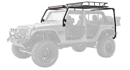 Body Armor 4x4 JK-6124 Black Cargo Rack, Base Unit for 2007-2013 Jeep JK Unlimited