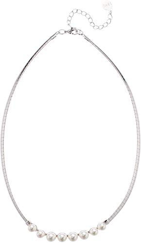 - Majorica Women's Galatea 6/7 mm White Pearls Necklace on 14
