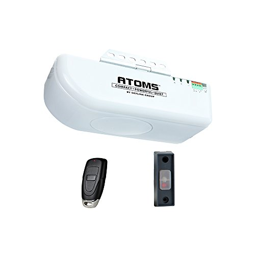 ATOMS AT-0611 By Skiylink 1/2 HPF Garage Door Opener with Built-in LED Light, Does not include Rail Drive System or Safety Sensors (Replacement Motor Head Kit for existing T-Rail or Tubular Rail installations)