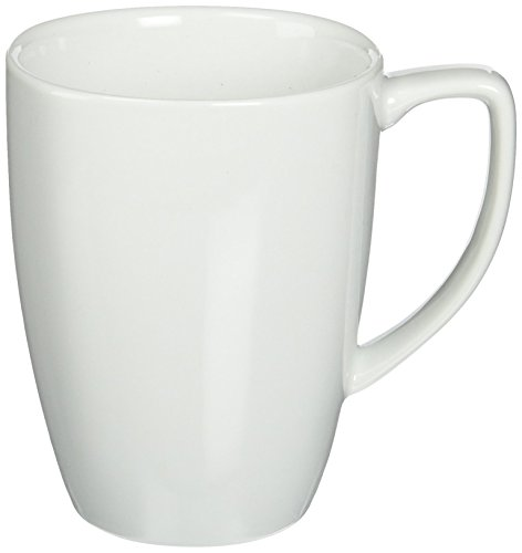 Corelle Square 12-Ounce Mug, Pure White (Set of 4)
