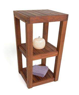 Shower Room Teak Floor Caddy, 3 Tiers (Indonesian Teak Garden Furniture)