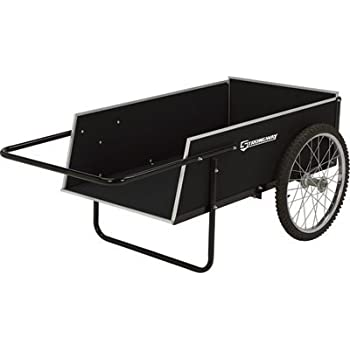 Strongway Yard Cart - 41in.L x 23in.W, 300-lb., 7 Cu. Ft. Capacity