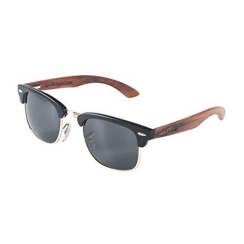 1ec065ed7e april® Gafas de sol polarizadas con patillas de madera natural hechas a  mano hombre mujer