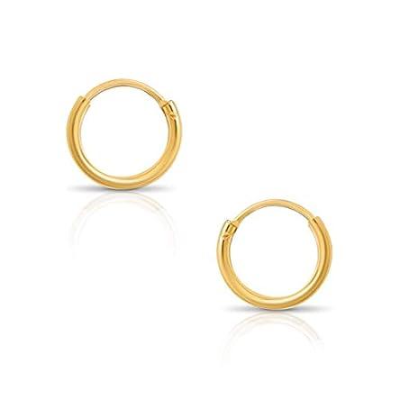 Humble Chic Endless Hoop Earrings – Hypoallergenic...