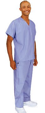 Cherokee Uniforms Authentic Workwear Unisex Scrub Set (Navy, M) - Cherokee Uniform Men