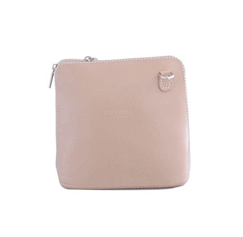 Ladies Fashion Women's Khaki Bag Small Designer Body Quality Leather Cross Italian CWV0026 rBrxnqHw