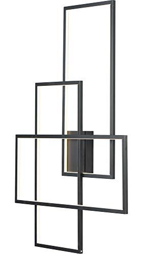 - ET2 Lighting E20708-BK Converge Wall Sconce-PCB LED, Black