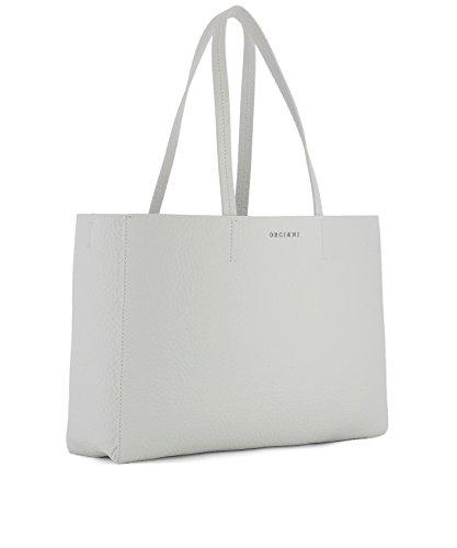 Orciani Borsa Shopping Donna B01959SOFTBIANCO Pelle Bianco