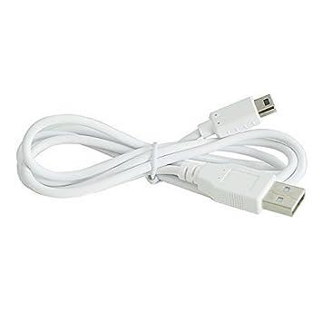 WINGONEER 1M USB Data Sincronización Cargador Energía Cable para Nintendo Wii U Gamepad Controlador(Blanco)
