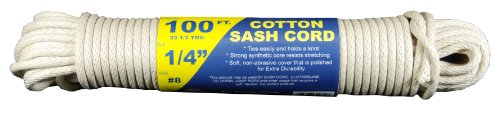 (T.W Evans Cordage 46-080 Number-8 1/4-Inch Buffalo Cotton Sash Cord 100-Feet Hank)