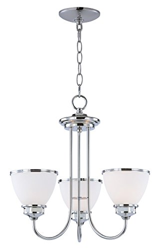 Maxim Lighting 21584SWPC Novus-Chandelier 3-Light (Silver Chandelier Wilshire)