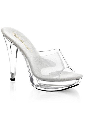 Chunky Pleaser Platforms - Pleaser Women's Cocktail-501/C/M Platform Sandal,Clear/Clear,10 M US