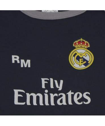10XDIEZ Body Bebe Real Madrid 811 Marino-Gris - Tallas bebé - 3 Meses