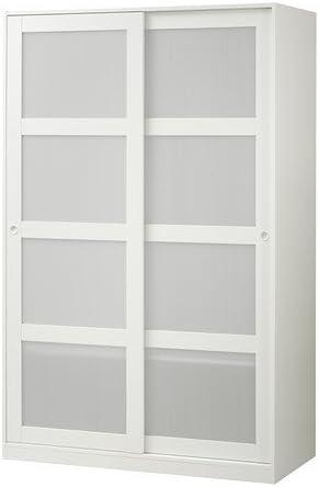 Ikea Kvikne - Armario con 2 Puertas correderas, Blanco - 120x190 cm: Amazon.es: Hogar