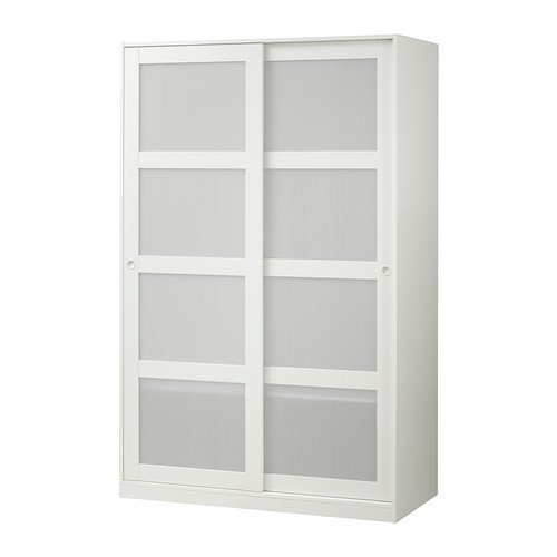 IKEA Wardrobe with 2 sliding doors, white 1826.888.346 (Door 2 Wardrobe White)