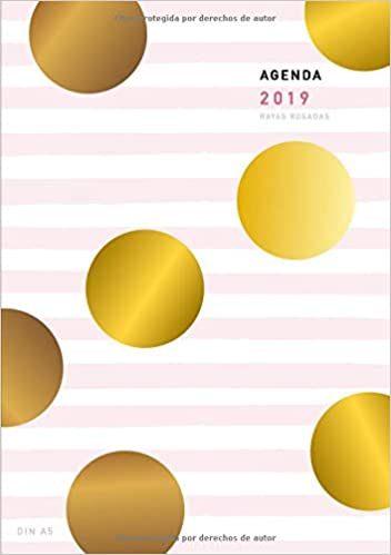 Agenda 2019 Din A5 Rayas Rosadas: Agenda anual semana vista ...