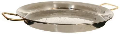 Garcima 18-Inch Stainless Steel Paella Pan 45 cm