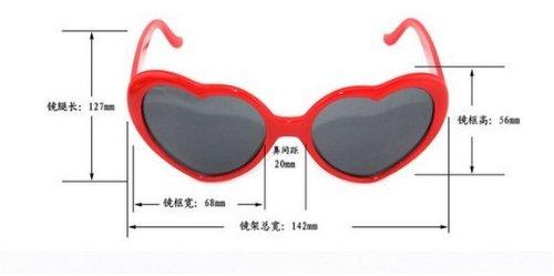 LUNETTES noir Coeur Lolita Nouveau mode JKLYZXS Bpq7Sx