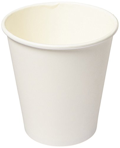 Genuine Joe GJO19046PK Polyurethane-Lined Single-Wall Disposable Hot Cup, 10-Ounce Capacity, White (Pack of 50)