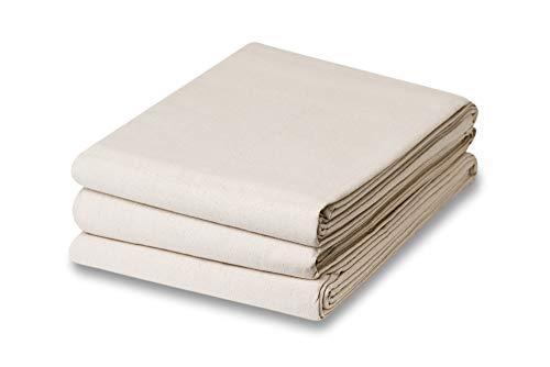 (3 Piece Set - (1) 9 x 12 & (2) 4 x 15 Canvas Cotton 10 Oz. Drop Cloth)