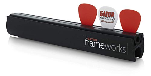 (Gator Frameworks Microphone Stand Attachment for Guitar Picks and Slides; Holds up to 12 Guitar Picks (GFW-GTR-PICKCLIP))