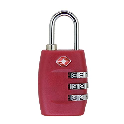 (Messenger Bag, ALOVEMO TSA Approved Luggage Lock Travel 3 Digit Combination Suitcase Padlock Reset )
