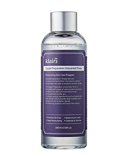 [KLAIRS] Supple Preparation Unscented Toner 6.08 fl oz, lightweight, essential oil-free, alcohol free by DearKlairs