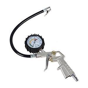 SATKIT Pistola para inflado de neumaticos con medidor de presion para usar con compresor de aire: Amazon.es: Bricolaje y herramientas