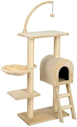 猫の木の塔、サイザル麻の覆われた、スクラッチポスト、豪華なとまり木、コンドミニアム、トンネル階段、ハンモック、アクティビティセンターの猫の塔家具 (Size : 55x31x135cm)