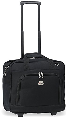 HiPack Multi-use Rolling Trolley Overnight Bag-TSA Approved Carryon (Black) ()