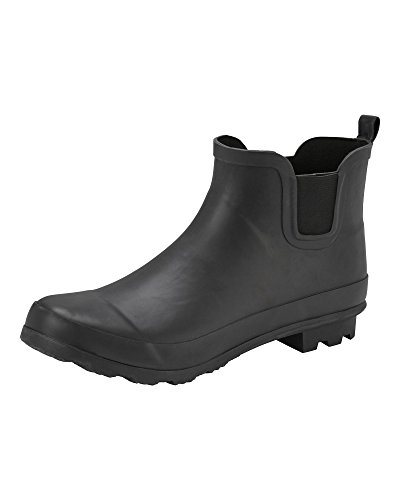 Cotton Traders Unisex Womens Ladies Mens Ankle Wellington Boots Shoes E Fit Black LhyUPn0UE