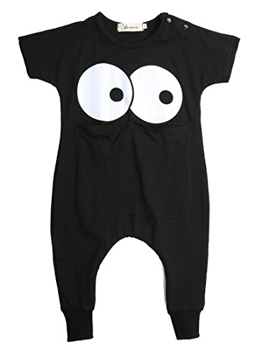 Newborn Toddler Infant Baby Boy Girl Romper Jumpsuit Bodysuit Clothes Outfits (24-36 Months, Black)