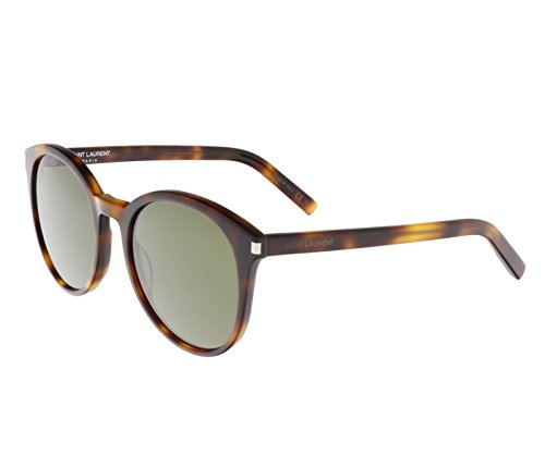 Saint Laurent - CLASSIC 6, Oversize, acetate, women, LIGHT HAVANA/GREY GREEN(003), 54/19/140