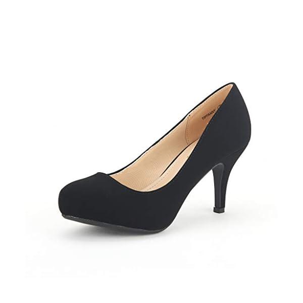 Low Stiletto Heel Dress Platform Pumps Shoes