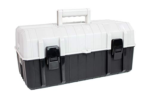 Bins & Things Fishing Tackle Box with 2 Fold Out Multi-Tier Trays | Sturdy Fishing Accessories and Equipment Organizer with Multiple Compartments
