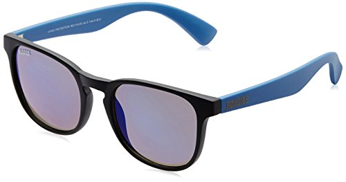 MTV Roadies Wayfarer Sunglass (Matte Black and Blue) (RD-115-C6)