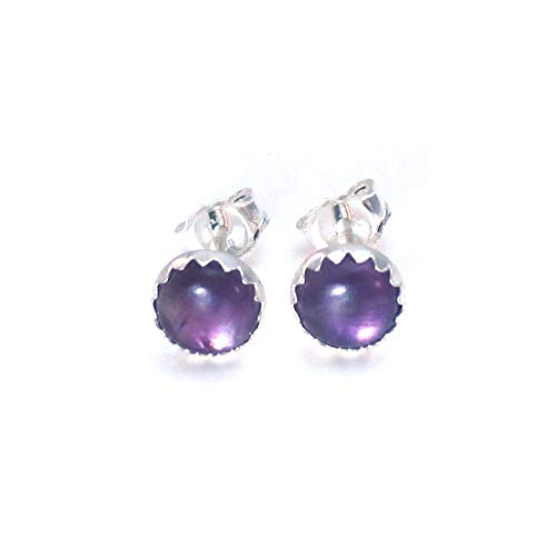 6mm Amethyst Earrings, Studs