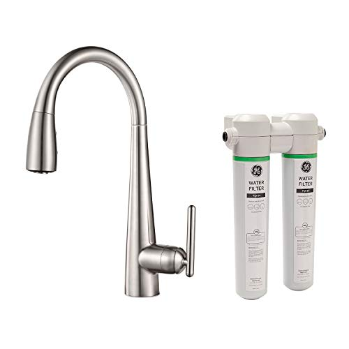 Pfister GT529-FLS Lita Xtract All-In-One Pull Down Kitchen Faucet with Integrated Water Filter, Stainless -