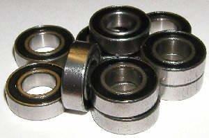 Sealed Inch Bearings (10 Sealed Bearing R6-2RS 3/8 x 7/8 x 9/32 inch Miniature Ball Bearings VXB Brand)